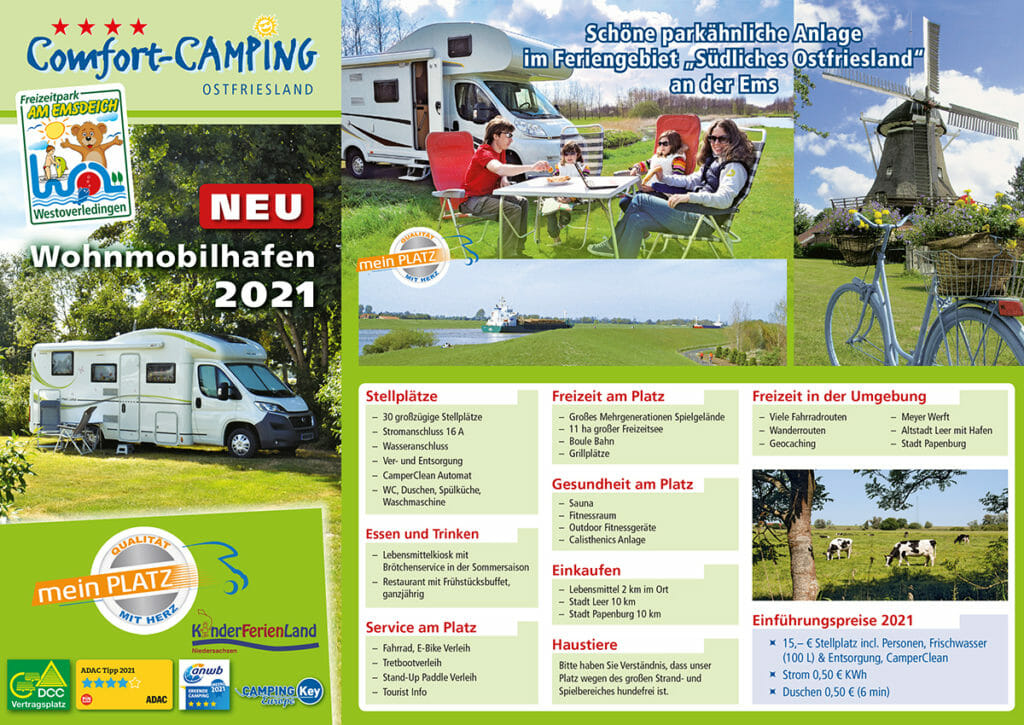 Broschüre Campingplatz